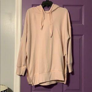 blush aerie side zip hoodie